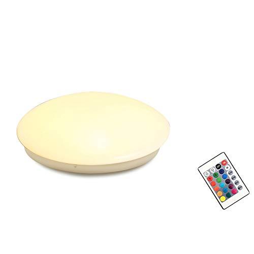 15W RGB+Warmweiß LED Deckenlampe Dimmbar - Deckenleuchte mit Fernbedienung - Modern kinderzimmer Wohnzimmer Schlafzimmer Flur Lampe (15W RGB+Warmweiß)