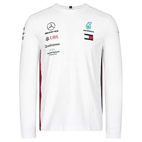 Mercedes-AMG Petronas Motorsport Men's 2019 F1™. Team-Langarm-Driver-T-Shirt Weiß (L)