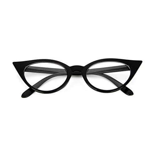 Vintage Cat Eye Mujeres PC Anteojos Gafas Montura Gafas Gafas Miopía MonturaBright Black & Whites