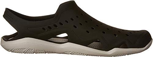 Crocs Crocs Swiftwater Wave, Herren Geschlossene Sandalen, Schwarz (Black/Pearl White 069), 48-49 EU (12 UK)