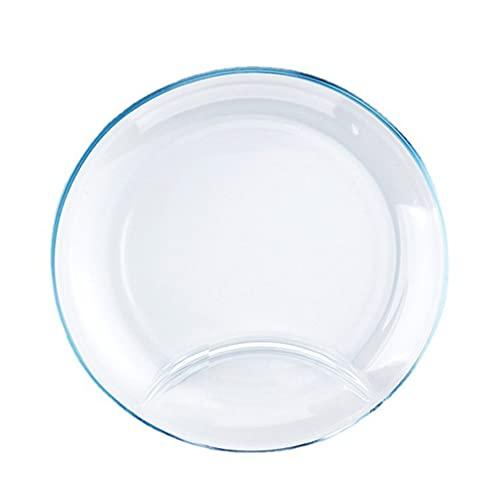 cabilock de Vidrio de Cena Dividido Vajilla de Cocina de Succión Dividido Placa Resistente Calor para Mesa de Restaurante de Hotel en Casa
