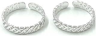 DARSHRAJ Jewellers 925 Sterling Silver Pure Toe Rings For women-(bichhiya) weight 2.12gm