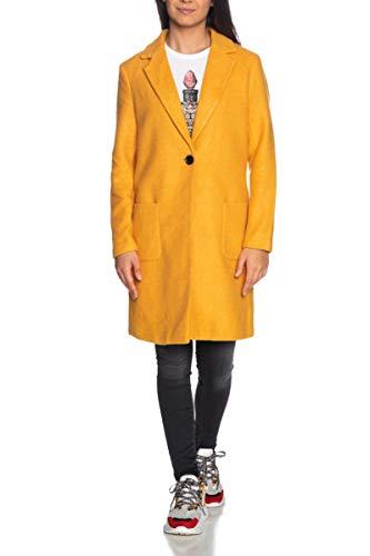 ONLY Damen Onlastrid Marie Coat OTW Mantel, Gelb (Golden Yellow Detail:Melange), Medium (Herstellergröße:M)