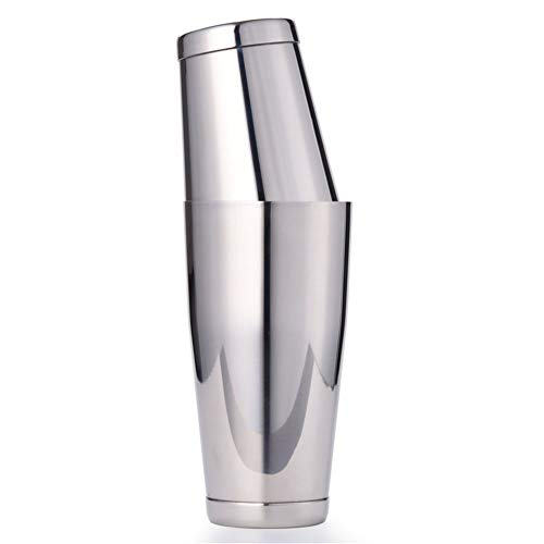 Premium Boston Shaker Gewogen Schudden blikken, Vergulde/Koper Platen, Zwart/glanzende afwerking, Premium Barware Gereedschap (Color : Mirror Finish)