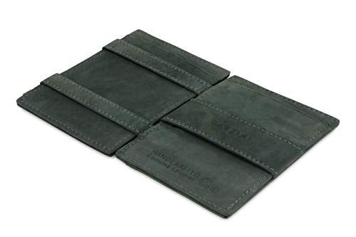 Portafoglio Garzini Magic in vera pelle sottile e minimalista da uomo con sistema di blocco RFID e tasca per carta d'identità