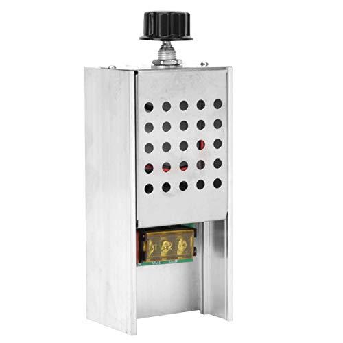 Atenuador de voltaje Scr, regulador de voltaje electrónico de doble panel seguro Scr de 220 V, carcasa de aleación de aluminio de potencia de carga de 6000 W para uso doméstico en fábrica