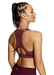 QUEENIEKE Women's Medium Support Back Pocket Energy Sports Bra