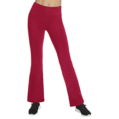 Skechers Women's Misses Gowalk Pant Evolution Flare, Beet Red, Large