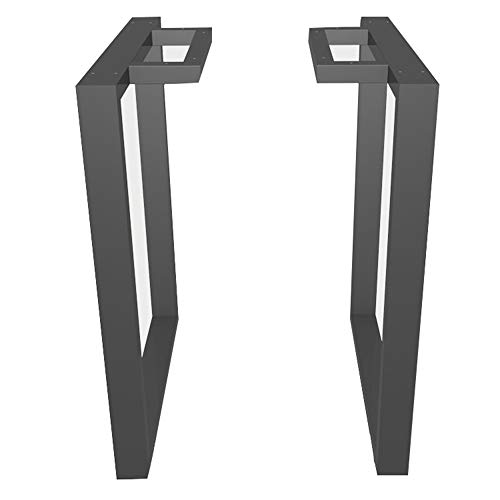 Furniture Legs-Table Legs×2, Wrought Iron Mouth-Shaped Large Table Frame, Suitable for bar, Dining Table and Conference Table/Gray / 550mm