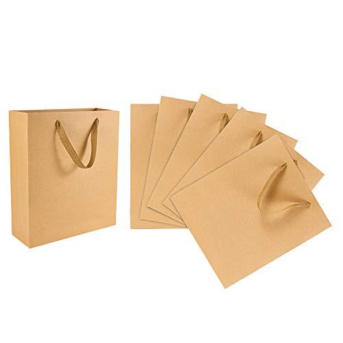 PandaHall 10 Paquete de Bolsas de Papel Kraft 11.8