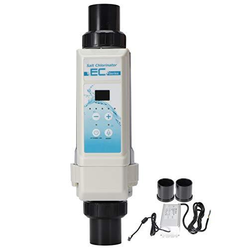 Generadores de cloro salino de agua salada para piscinas 8G/H | Detección de nivel de agua | Alarma automática | Dispositivo clorador de sal de electrólisis de protección de temperatura del agua para