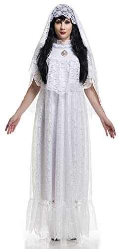 Charades Women's Vintage Bride Adult Sized Costumes, White, X-Larg