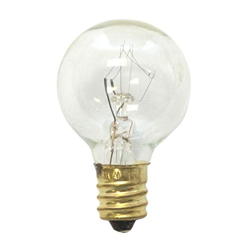 Sival - G30 Replacement Globe Light Bulb, Clear, Candelabra Base (E12), 5 Watts, 25-Pack