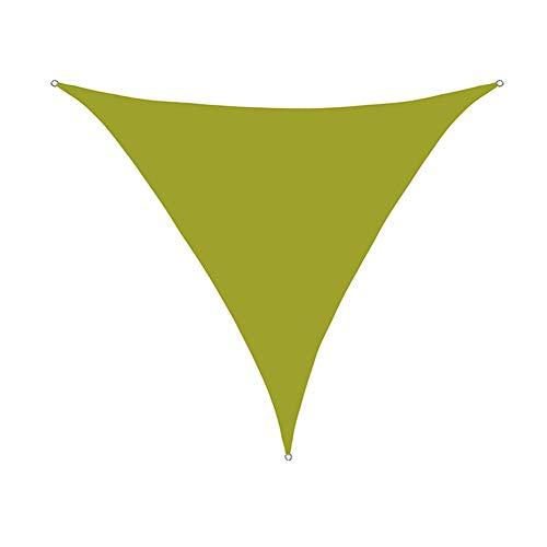 DOILE Vela De Sombra Triangular Toldo De Sombra Al Aire Libre Toldo Toldo Toldo De Paisaje Paño De Sombra Impermeable Red De Sombra De Patio Al Aire Libre (3 * 3 * 4.3M,Amarillo Verde)