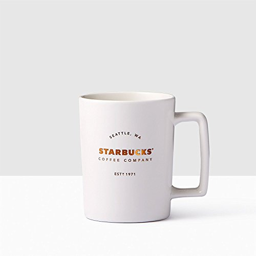 Starbucks Seattle Matte White Handle Coffee Mug, 16 fl oz.