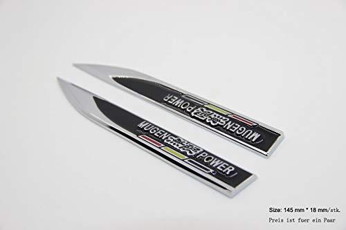 B342 ein Paar Mugen schwarz Emblem Truck Seite Badge auto aufkleber 3D mobil Abziehbilder car Sticker Plakette