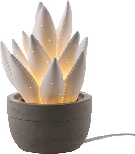 Tischleuchte Nino Planta 51660107 Beistelllampe Deko-Pflanze Weiß