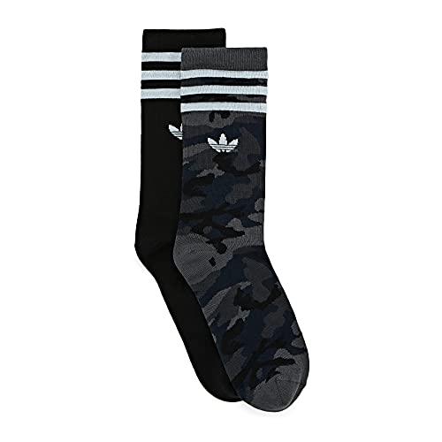 adidas Camo Crew Sock Socks, Unisex-Adult, Grey Six/Black, S