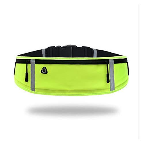 HUIJUNWENTI Bolsa de Correr Unisex Bolsas Deportivas Bolsas de Cintura Impermeable Senderismo Bolsa Bolsa Deporte Camping Cinturón Cinturón Fanny Pack Ultrathin para Mujeres Hombres (Color : Yellow)