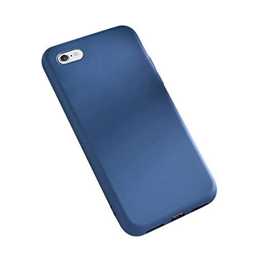 Funda iPhone 6 Plus / 6S Plus, Carcasa Silicona Suave Colores del Caramelo con Superfino Pelusa Forro,Anti-rasguños Protección Teléfono Case para iPhone 6 / 6S (iPhone 6 Plus / 6S Plus, Azul)