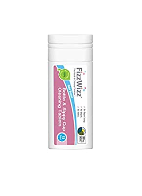All-Natural Cleaning Tablets for Baby Bottles & Sippy Cups - Brushless Cleaning Tablets - 15ct Tablets by FizzWizz