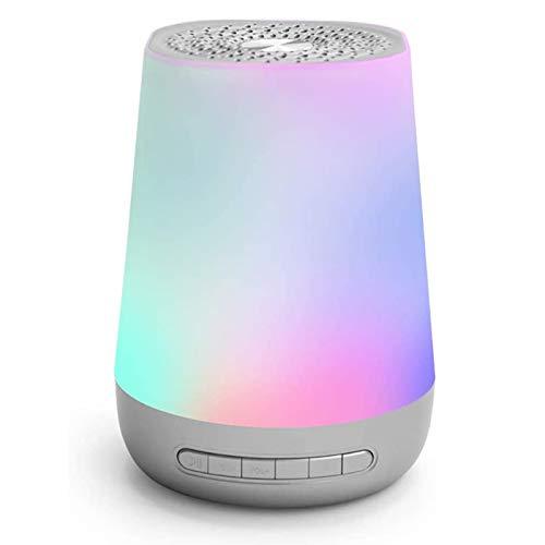 QXue Einschlafhilfe Weißes Rausche Maschine mit Nachtlicht Timer 28 Natürliche Beruhigender Geräuschen für Zuhause/Büro/Baby/Reisen,Silber