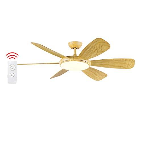Luz del ventilador Ventilador de Techo 6 Ventilador de Techo, lámpara de araña, 107 cm, Dormitorio, Ventilador de Techo, Sala de Estar, lámpara de Comedor LED36W (Color : A)