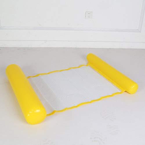JIE Verano Piscina Juguete Hamaca Salón Agua Inflable Colchoneta Flotante Amarillo