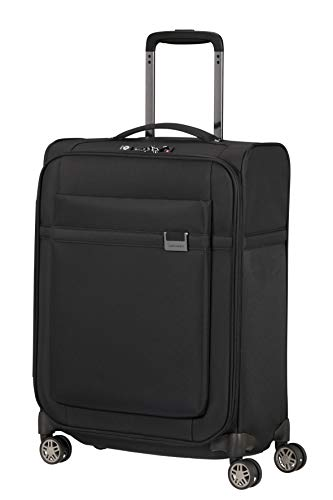 Samsonite Airea Luggage- Carry-On Luggage, Spinner S (55 cm - 41 L), Black (Black)