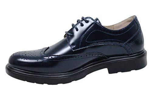scarpe francesine uomo Evoga Scarpe Francesine uomo casual eleganti calzature Man's Shoes (#A2 Blu