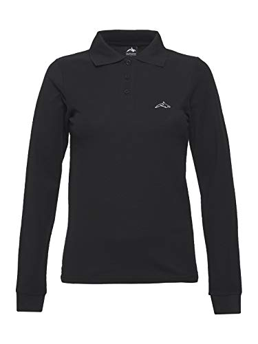 Killer Whale Camiseta de Golf de Manga Larga de algodón para Mujer (Negro, XL)