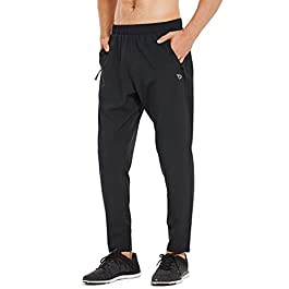 BALEAF Men's Lightweight Running Pants Tapered Woven Joggers...