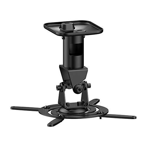 PureMounts SPIDER-PLUS Beamer Deckenhalterung, neigbar 25°, drehbar, Deckenabstand: 225mm, Traglast max. 15kg, Lochabstand 180-310mm, schwarz