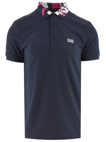 Photo of BOSS Navy Paule 2 Polo Shirt (Colour : Blue Size : Small)