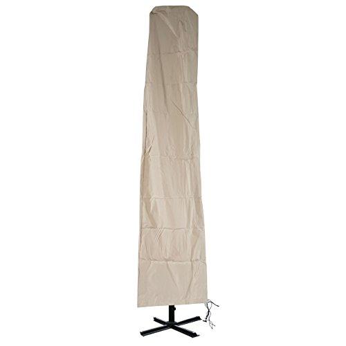 Schutzhülle Meran für Marktschirm bis 5m, Abdeckhülle Cover mit Reißverschluss - Creme