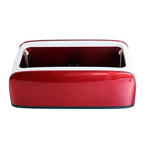 SFSGH Dispensador automático de Cubiertas de Zapatos, con cubrezapatos Desechables Máquina dispensadora automática de Protector de alfombras de fácil Uso, Rojo, B