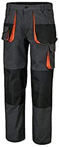 Beta 7860E M - Pantaloni leggeri da lavoro multitasche, tessuto in poliestere e cotone. Ampie tasche anteriori con chiusura a strappo, tasca porta metro e nastro porta martello - Grigio