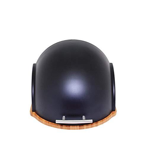 N / C Caja de Pan de Moda para el hogar, con Base de Corte de bambú, Cubierta fácil de Deslizar, con asa, Duradera, no tóxica, Adecuada para el hogar y la Oficina