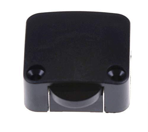 Einbau Barschalter Braun, Schnappschalter, LED (Niedervolt), 230V (Hochvolt) Ein/Aus, Truhenschalter, Türschalter, Schrankschalter (Schwarz)