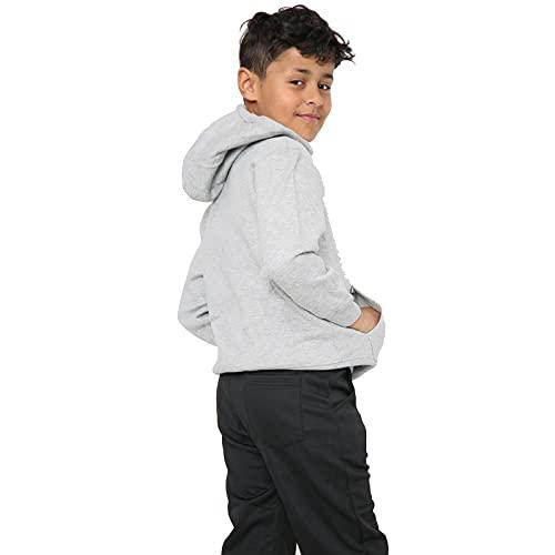 Kids Girls Boys Hoodie Sweatshirt Tops Casual Plain Pullover Fleece Hooded Jumper Unisex Sports and School Wear Age 7 8 9 10 11 12 13 Years (Grey, 5_years)