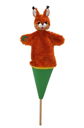 MUBRNO 12606A Eichhörnchen mit Haselnuss Tütenkasper, Mehrfarbig
