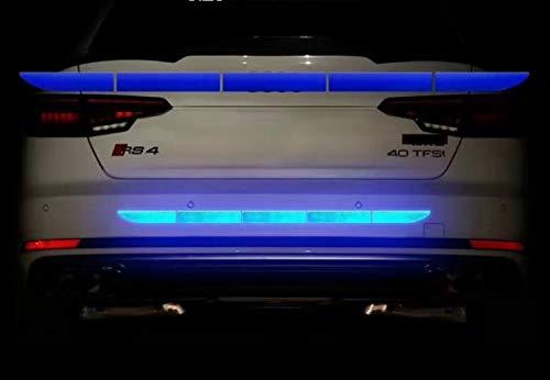 TRUE LINE Automotive Reflective Rear Trunk Fender Back Warning Molding Trim Sticker Safety Markers (Blue)
