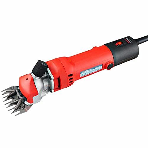 RZBQ Cizallas eléctricas Profesionales de Lana de 650 W, cizalla eléctrica de Mano, Control de Velocidad de 6 velocidades, Productos de Belleza para Animales de Granja, con Maleta
