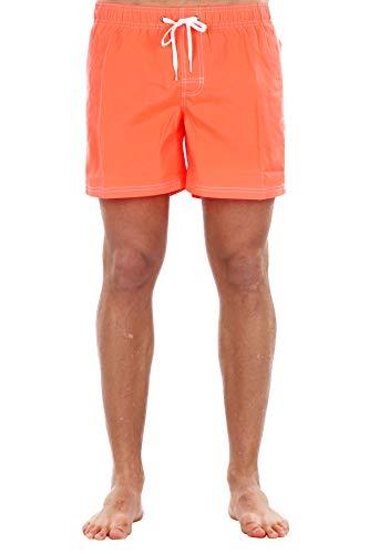 Sundek Boardshorts mit mittlerer Taille und fester Taille aus Polyester, mit Netz innen und Regenbogen und Logo hinten in Kontrast., Mehrfarbig X-Small