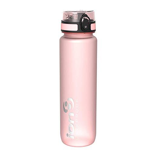 ion8 Auslaufsichere 1 Liter Sport Trinkflasche, BPA-frei, Rose