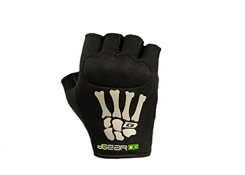 Damascus Protective Gear OG20KWXS DGearOG Women's Obstacle Course Racing Half-Finger Knuckle Gloves, Black, X-Small