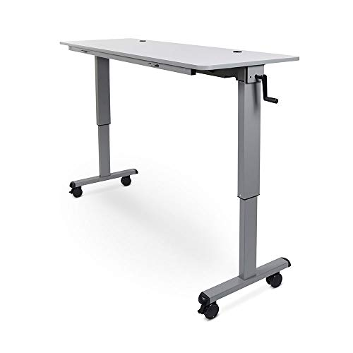 """Luxor 60"""" Adjustable Sit/Stand Desk Flip Top Laptop Workstation Table with Crank Handle -  STAND-NESTC-60"""