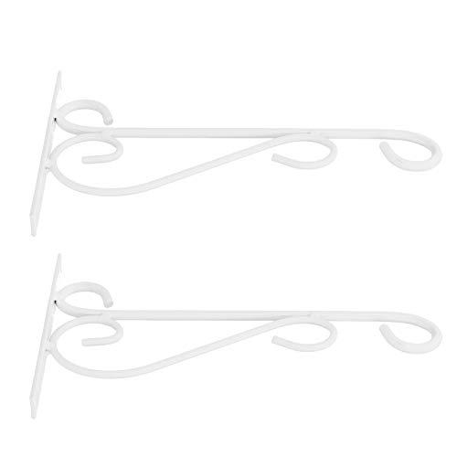 Omabeta Wandhalterung Pflanzenhalter Vogelhäuschen Kleiderbügel Wandhalter Wohnzimmer für Hausgarten Balkon(White Bracket)