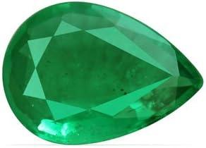 GemsNY favorite 0.75 Carat Natural Pear Import Emerald