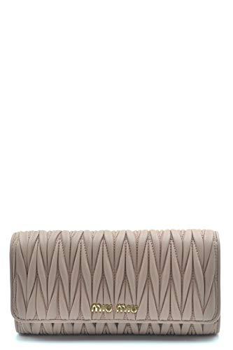 Miu Miu Luxury Fashion Damen 5MH109N88F0770 Grau Leder Brieftaschen | Jahreszeit Permanent